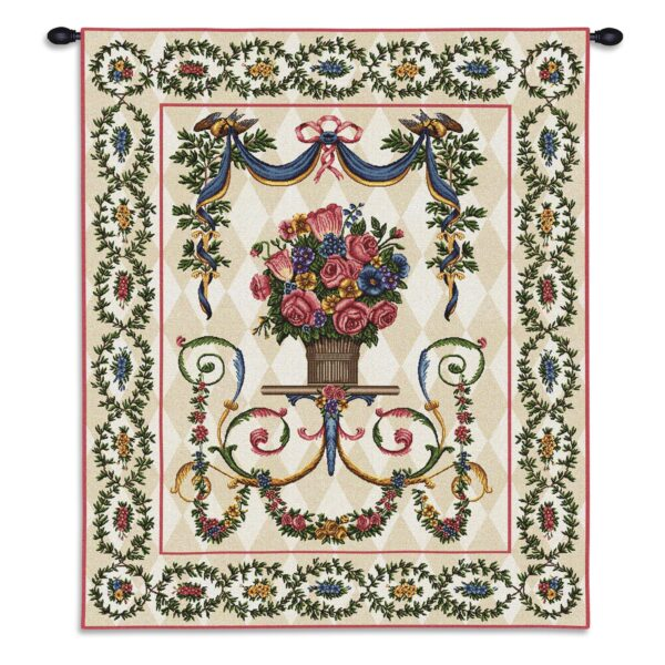 Floral Majesty French Country Wall Tapestry