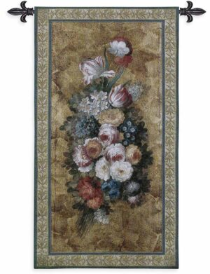 "Floral Reflections I | 26"" x 49"" 
