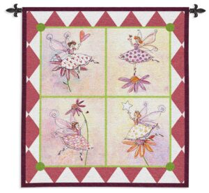 Flower Fairies | Kids Bedroom Wall Tapestry | 49 x 44