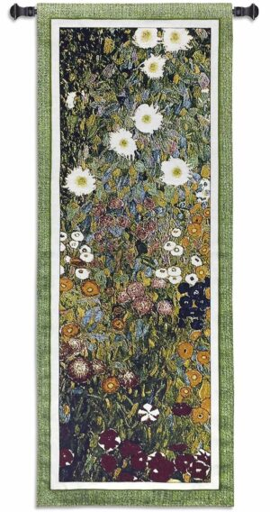 Flower Guard | 20 x 52 | Woven Tapestry Hanging
