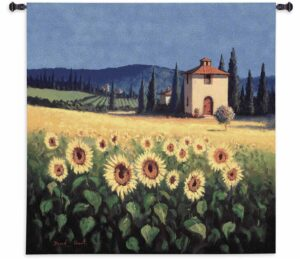 "Golden Warmth (Sunflowers) | 53"" x 54"" 