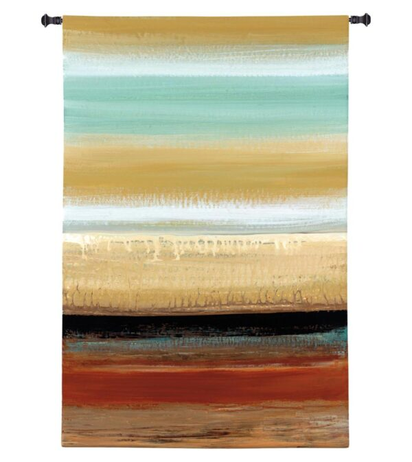 "Horizon Lines I by Connie Tunick | Contemporary Tapestry | 44"" x 30"""