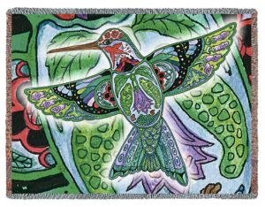 Hummingbird Native American Totem Blanket | 72 x 54