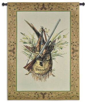 Hunting Gear | Rustic Woven Tapestry Wall Hanging | 59 x 44