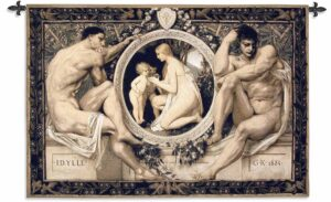 Idylle Greek Satues | 44 x 53 | Woven Tapestry