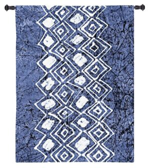 Indigo Primitive Patterns IV | Wall Tapestry | 23 x 31