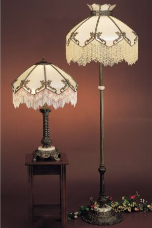 Isabella Fringed Antique Style Floor Lamp | 62""