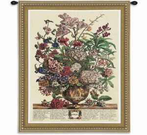 July Botanical | 26 x 32 | Floral Tapestry Wall Hanging