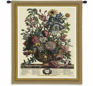 June Botanical | 32 x 26 | Woven Floral Tapestry Hanging