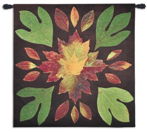 Kaleidoscope Leaves | Woven Tapestry | 51 x 52
