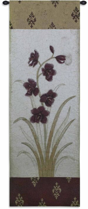 "Kimono Orchid Plum I | 26"" x 75"" 