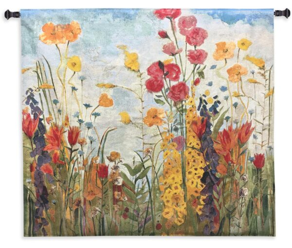 Laughter | Floral Wall Tapestry | 45 x 45