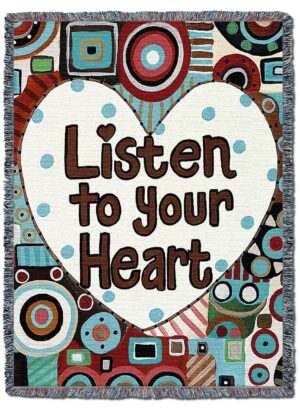 Listen To Your Heart Throw Blanket | 54 x 72