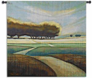 Looking Back | 31 x 31 | Landscape Tapestry