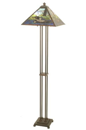 Loon Rustic Stained Glass Floor Lamp | 63""