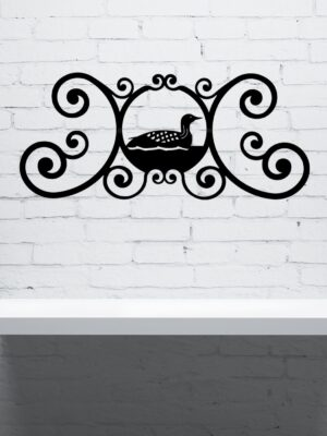 Loon Wrought Iron Wall Plaque | Indoor Outdoor | 24""