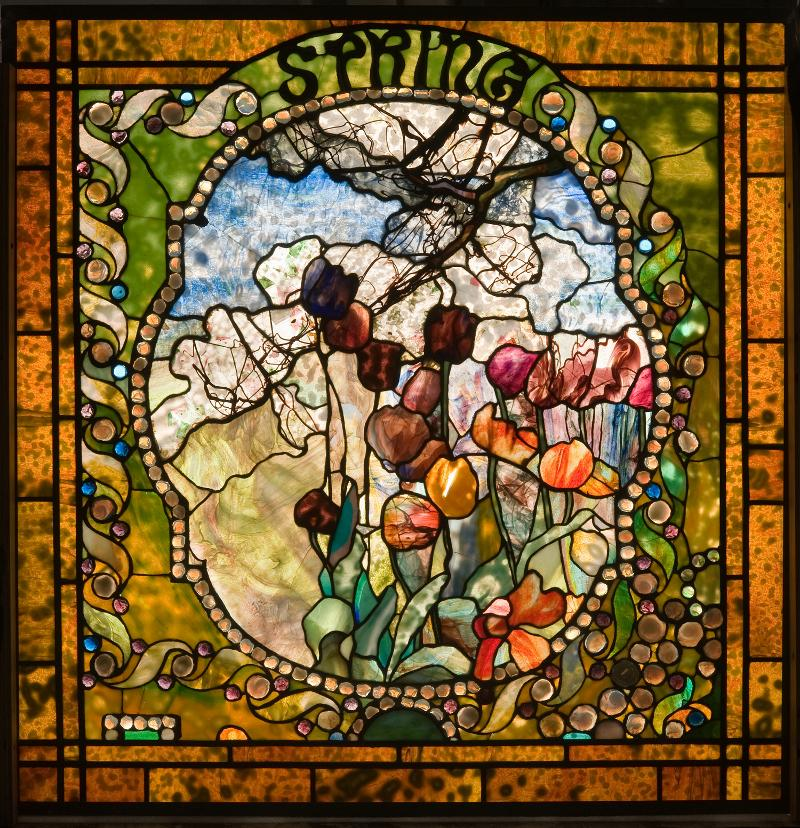 Louis Comfort Tiffany Spring Stained Glass Window
