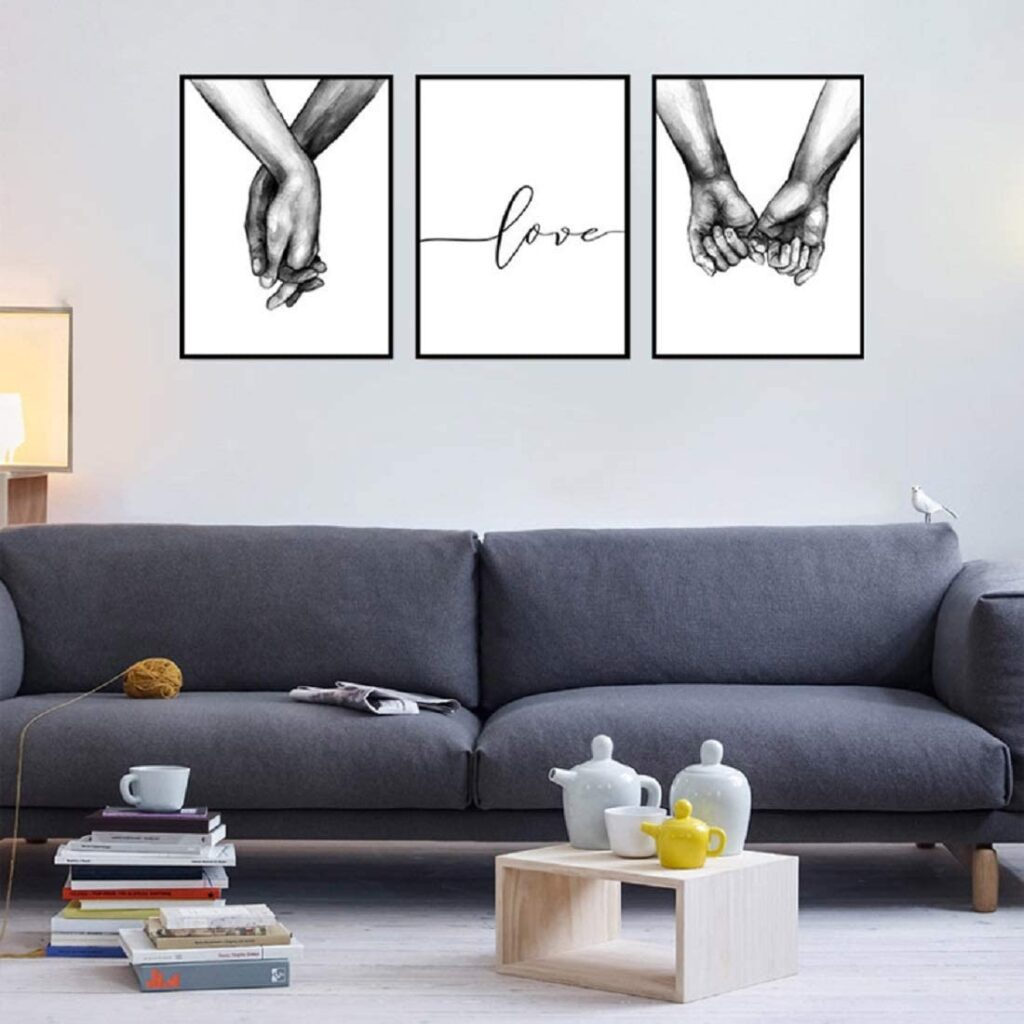 Loving Hands Black & White Sketch Art Set