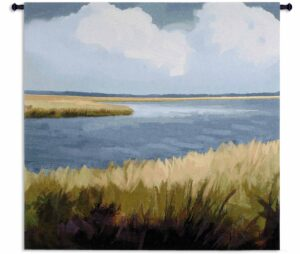 Low Country Impressions by Sarah Simpson | 53 x 53 | Woven Wall Tapestry