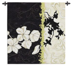 Magnolia Silhouette | Contemporary Floral Wall Tapestry | 44 x 42
