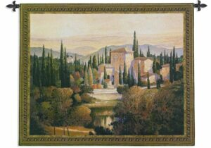 Max Hayslette Landscape Art Song of Tuscany | 53 x 44 | Tapestry Wall Hanging