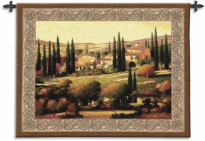 """Max Hayslette Tuscan Gold   53"""" x 40""""   Woven Wall Tapestry"""