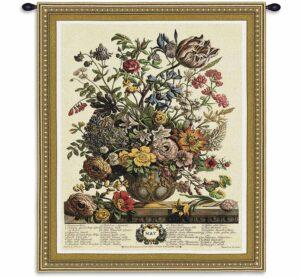 May Botanical | 32 x 26 | Woven Floral Tapestry Hanging