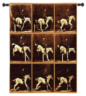 Maybridge Jumping Horse | Equestrian Wall Tapestry | 46 x 53