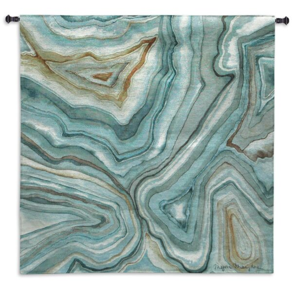 Megan Meagher - Agate Abstract II   Tapestry   53 x 53