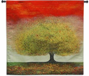 Melissa Graves Brown - Dreaming Tree Red | Tapestry | 52 x 51.5