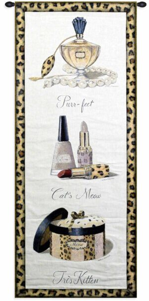 """Meow   26"""" x 52""""   Wall Tapestry"""
