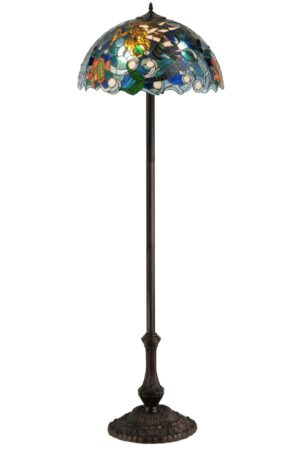 Mermaid of the Sea Stained Glass Floor Lamp | 61.5""