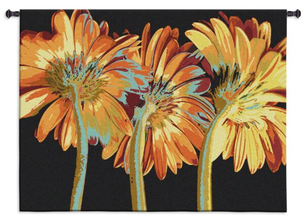 Miami Blooms | Woven Contemporary Floral Tapestry | 39 x 53