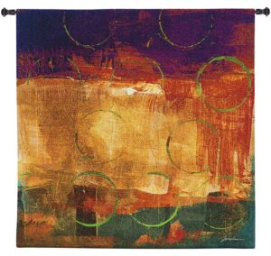 "Mixed Messages II by Liz Jardine | Contemporary Tapestry | 50"" x 50"""