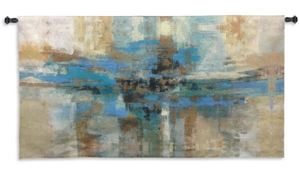 Morning Fjord | Woven Abstract Art Tapestry | 30 x 54