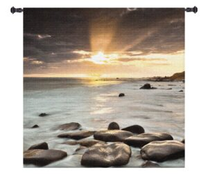 Nordic Sunset | Large Woven Art Tapestry | 60 x 60