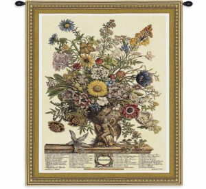 November Botanical | 32 x 26 | Woven Floral Tapestry Hanging