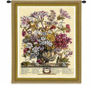 October Botanical | 32 x 26 | Woven Floral Tapestry Hanging
