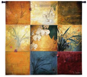 "Orchid Nine Patch | 53"" x 53"" 