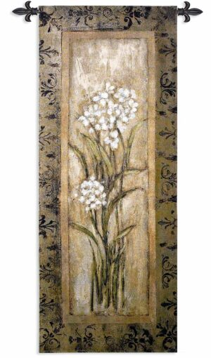 Paperwhites I | 22 x 53 | Woven Hanging Tapestry