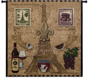 Paris With Love | 53 x 53 | Woven Tapestry
