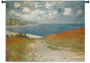 Path Through The Corn At Pourville by Claude Monet | Tapestry | 53 x 40