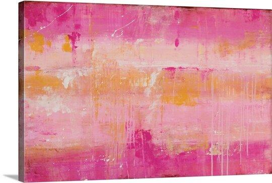 Pink Champagne Canvas Art by Erin Ashley