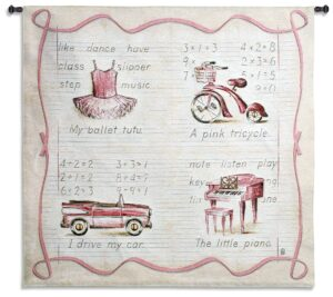 Pink Fun | Girl's Bedroom Tapestry | 42 x 45