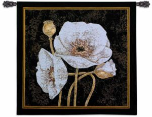 "Poppies By Night | 44"" x 44"" 