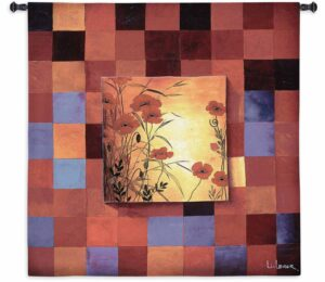 "Poppy Patterns | 53"" x 53"" 