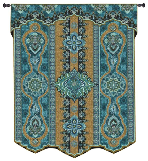 Prema Lupine | Blue Tapestry Wall Hanging | 60 x 53