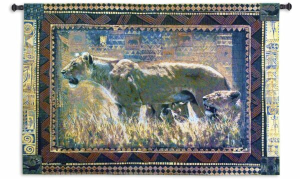 """Protecting Her Cubs (Lions) 