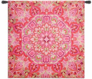 "Rangoli Raspberry | 51"" x 53"" 