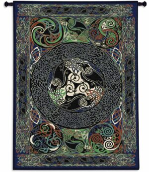 Ravens Panel by Delyth | 53 x 73 | Woven Tapestry Decor